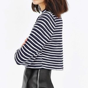 Urban outfitters striped crop sweater